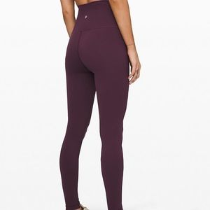 lululemon dark plum wunder under legging